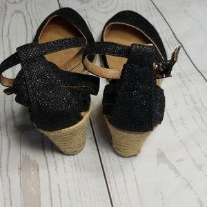 White Mountain Shoes - 💎WHITE MOUNTAIN CISCO GLITTER WEDGE ESPERILLAS